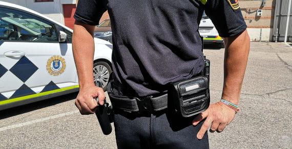 Policía Alcalá de Henares con impresora portátil Brother