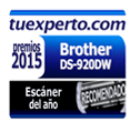 tuexperto.com Premio 2015 al Escáner del año Brother DS-920W