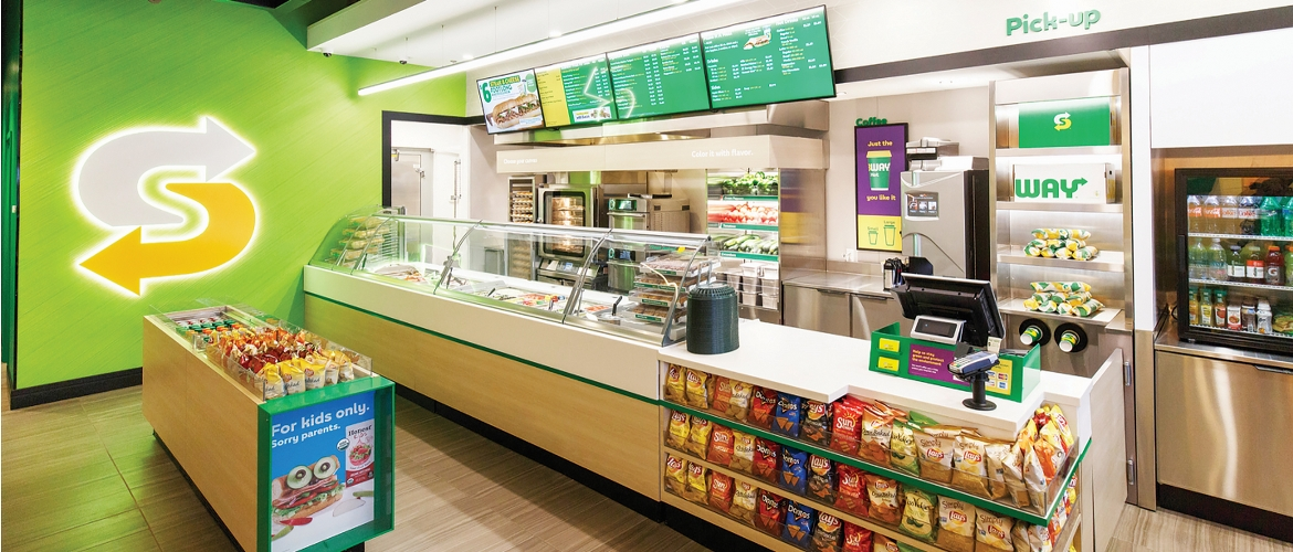 The Subway retail store Chineham, Basingstoke - the shop that used Brother's food labelling solution