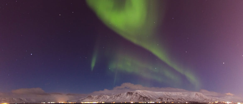Nordlys på himmelen