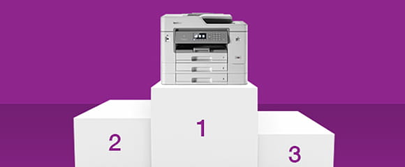 Brother x-series inkjet professional range placed on top of a platform