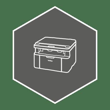 Ikon av en printer