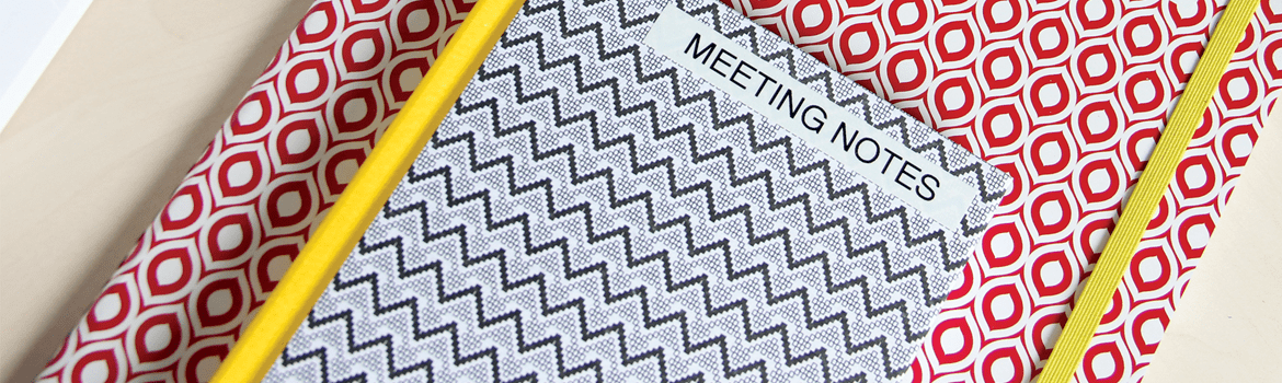 Meeting notes pattern booklet
