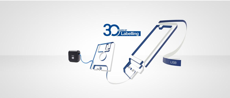 Brother лого за 30 години етикетни принтери