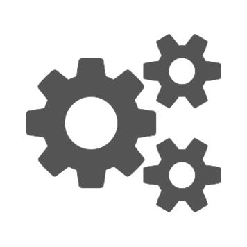 Tannhjul ikon for arbeidsflyt