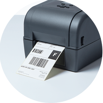 Brother TD-4T desktop label printer with shipping label output