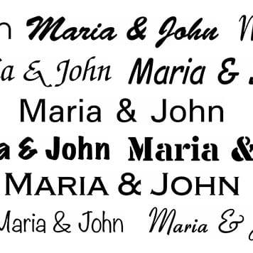 selekcia fontov dostupných v aplikácii P-touch Design&Print