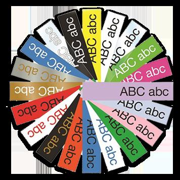 paleta farebných štítkov Brother
