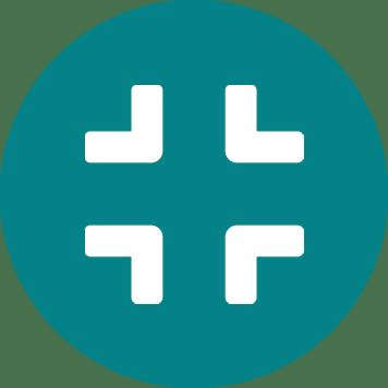 Bijela ikona komprese na plavoj pozadini