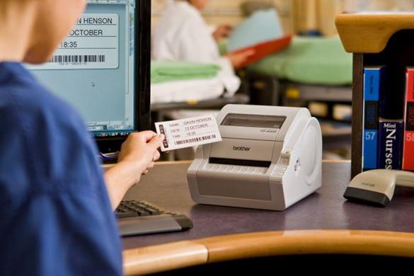 Tlač identifikačného štítka pre pacienta