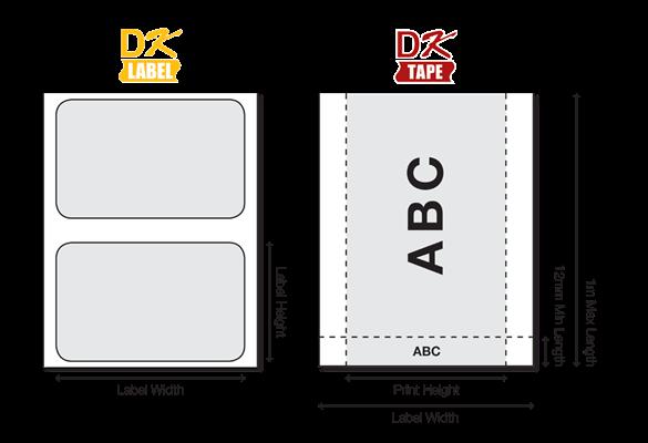 Etichetele DK sunt disponibile în numeroase dimensiuni