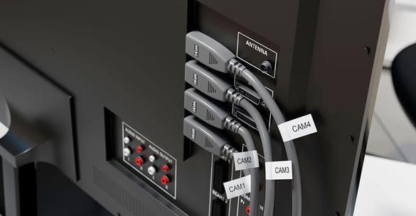 Označenie HDMI káblov štítkom typu vlajka