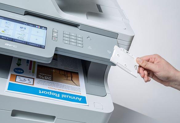 Secure Print Plus NFC идентификация