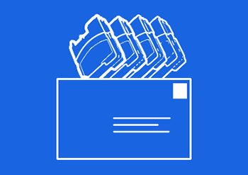 Cartridges Envelope Return Icon