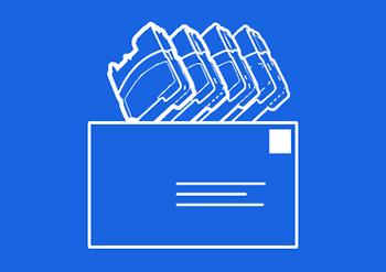 Ikona obálky zpětného odběru prázných kazet