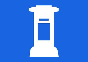 Logo mit einem Briefkasten