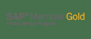 SAP gold member vendor logo png with transparent background