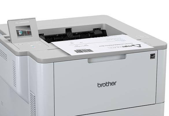 HL-L6300DW imprimând document cu cod de bare