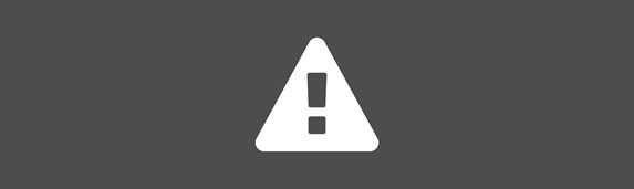 white hazard warning sign icon against an grey background