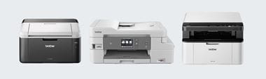 Line up of printers available with All in Box