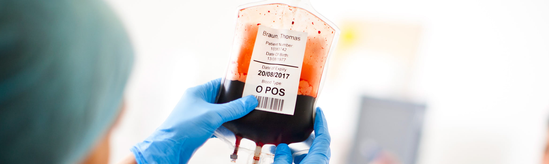Krevní vak - klinická péče