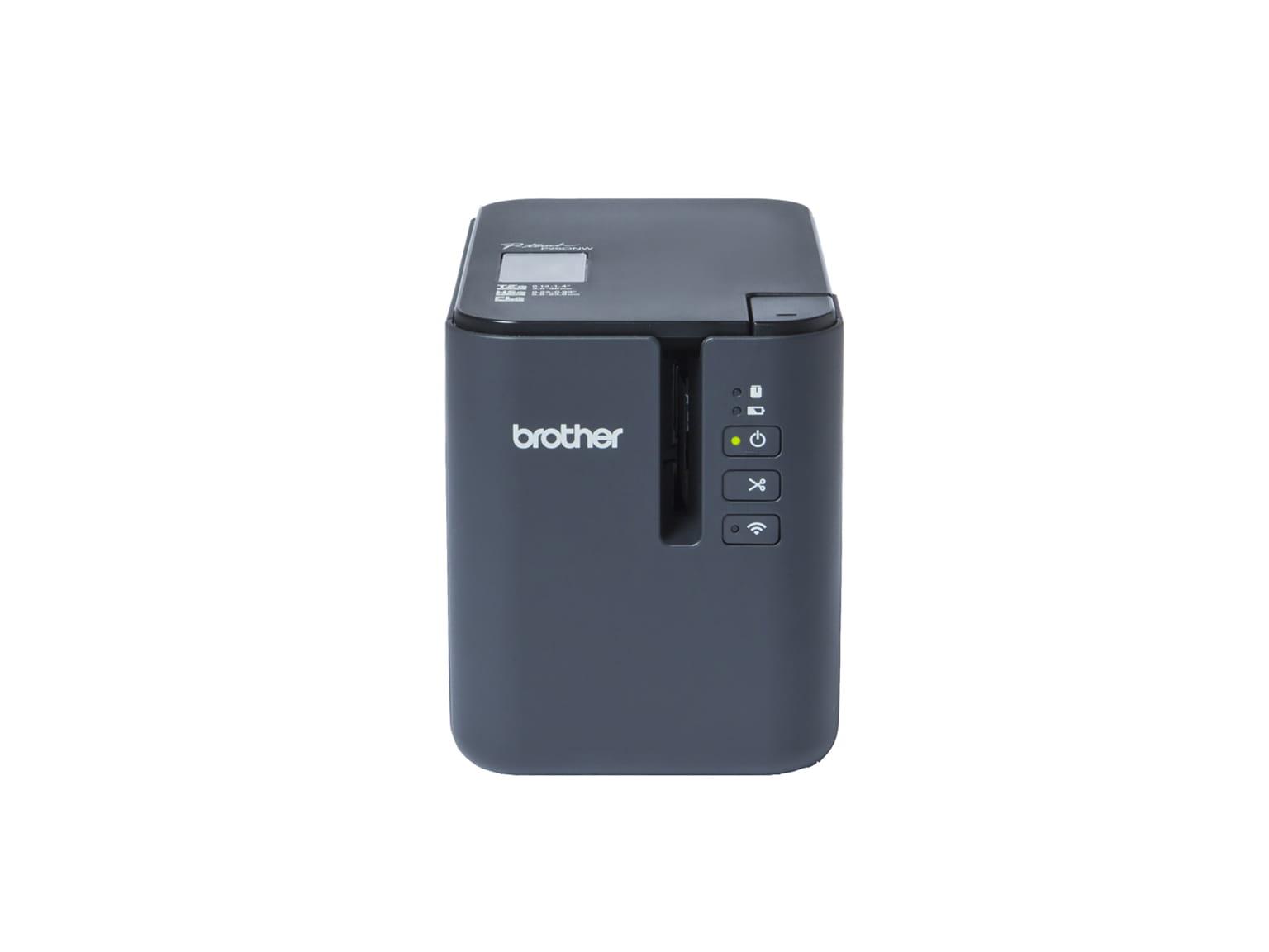 Odolná tiskárna štítků Brother P-touch PT-P950NW s USB, Wi-Fi a drátovou sítí. Tiskne štítky do šířky až 36 mm