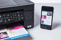MFC-J491DW printing from mobile device