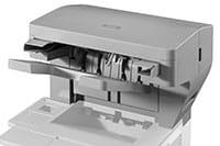 Laserová tlačiareň s výstupnou zošívačkou