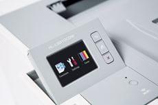Farge LCD berøringsskjerm på en Brother HLL9310CDW farge laserskriver