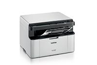 Mono laserová tiskárna DCP-1623WE tisk, kopírování a skenování pohled z pravého boku s tiskem dokumentu