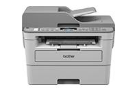 Mono laserová tiskárna 4-v-1 Brother MFCB7715DW - čelní pohled s výstupem papíru