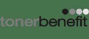 Monochromatické logo tonerbenefit