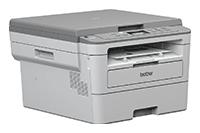 Brother DCPB7250DW mono laser tiskárna 3 v 1 směřující doprava s výstupem