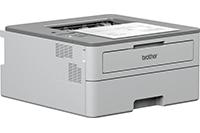 Laserová tiskárna Brother HLB2080DW s výstupem tisku - pohled z pravé strany