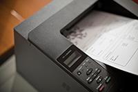Tisk zabezpečeného dokumentu z laserové tiskárny