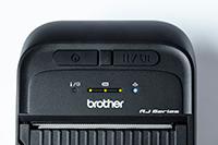 Близък кадър на мобилен принтер RJ3035B или RJ3055WB