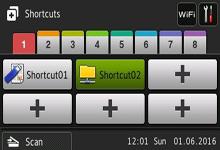 Farge berøringsskjerm på en Brother ADS3600W dokument skanner
