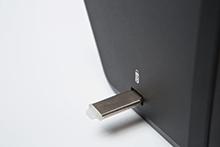 USB kľúč v USB slote