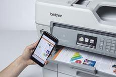Barevný tisk z mobilu na multifunkční inkoustové tiskárně MFC-J6947DW