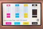 Stránka základních barev CMYK