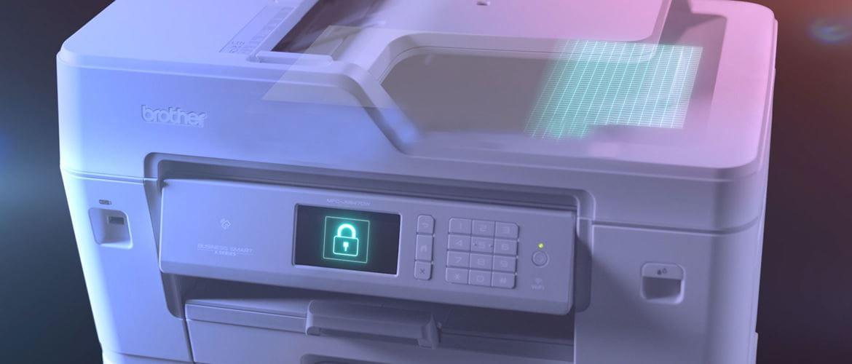 Imprimantes à jet d'encre A3 et A4 professionnelles  Brother MFC-J6947DW avec cadenas de sécurité sur l'écran tactile