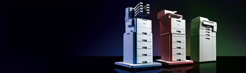 Les imprimantes professionnelles Brother HL-L9310CDW, MFC-L9570CDW et MFC-J6947DW.