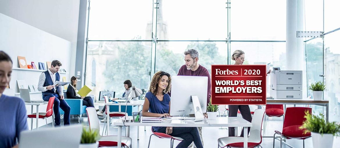 Forbes 2020 Wordl's Best Employers