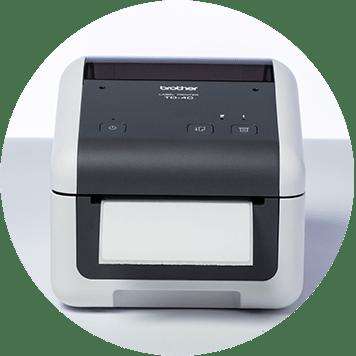 Imprimante d'étiquettes de bureau Brother TD-4D avec étiquette vierge