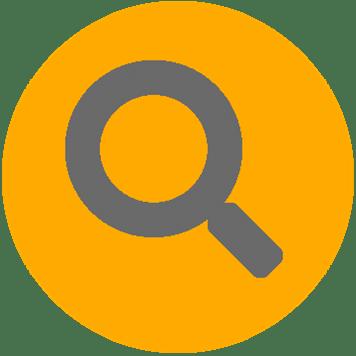 Icône représentant l'identification de l'infrastructure réseau