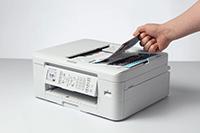 Sortie d'impression sur l'imprimante jet d'encre multifonction MFC-J1010DW