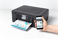Impression enclanché via un smartphone sur l'Imprimante DCP-J1140DW