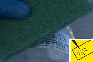 Résistance à l'abrasion - étiquettes testées jusqu'à l'extrême