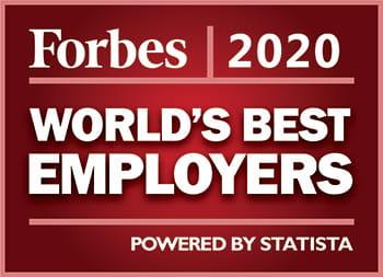 Logo de la liste des meilleurs employeurs au monde selon Forbes