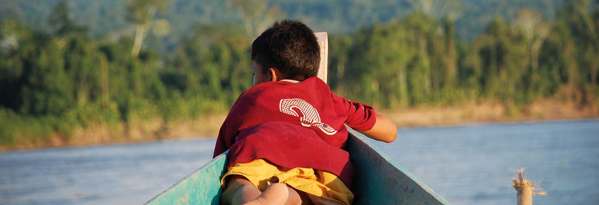 boy on boat brotherearth recycling